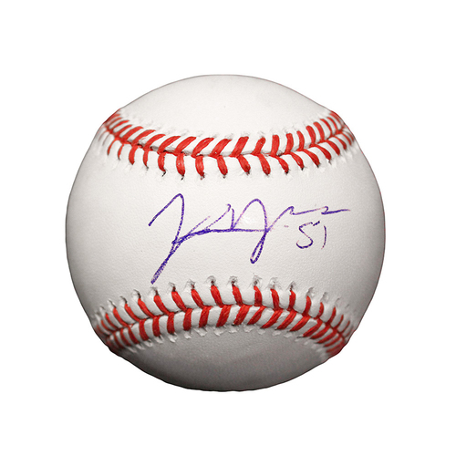 Photo of Jason Vargas Autographed Baseball