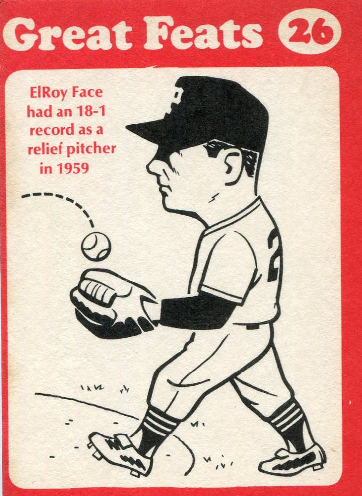 1972 Laughlin Great Feats #26 Roy Face