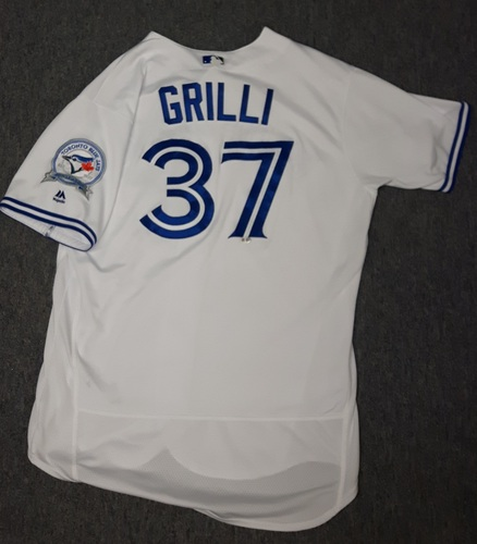 Photo of Authenticated Game Used Jersey - #37 Jason Grilli (July 29, 2016) - Grilli pitched 1 IP giving up 1 hit, 1 run and struck out 2.