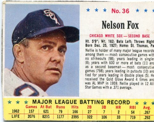 Photo of 1963 Jello #36 Nellie Fox