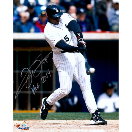"Photo of Frank Thomas Chicago White Sox Autographed 16"" x 20"" Hit Ball Photograph with HOF 2014 Inscription"