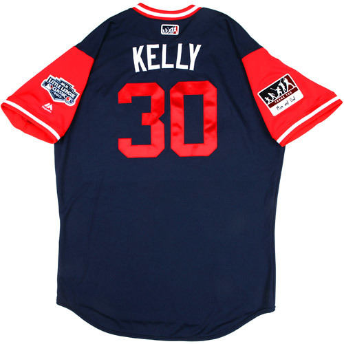 "Photo of St. Louis Cardinals Game-Used Little League Classic Jersey -  Carson ""Kelly"" Kelly #30"