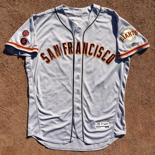 Photo of San Francisco Giants - Game-Used Jersey - 2016 Road Jersey