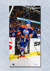 Taylor Hall Edmonton Oilers Autographed Oil Country 14x28 Art Canvas #/44