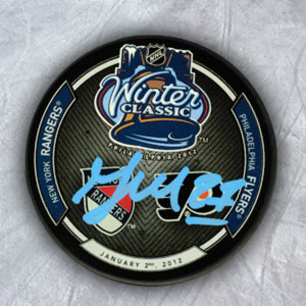 Maxime Talbot Philadelphia Flyers Autographed 2012 Winter Classic Hockey Puck