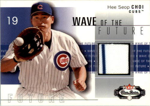 Photo of 2003 Fleer Box Score Wave of the Future Game Used #HC Hee Seop Choi Jsy