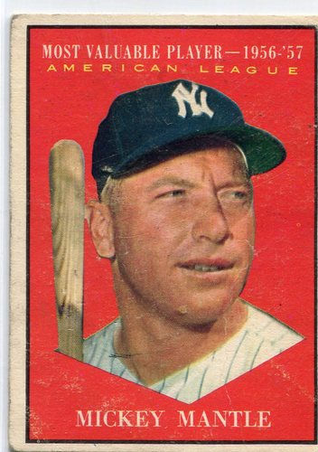 Photo of 1961 Topps #475 Mickey Mantle MVP