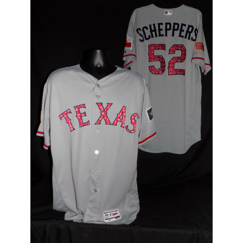 Photo of Tanner Scheppers 2017 Team-Issued Jersey