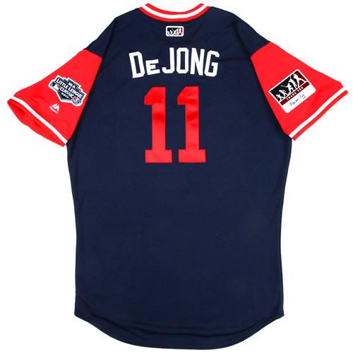 """Photo of St. Louis Cardinals Game-Used Little League Classic Jersey -  Paul """"DeJong"""" DeJong #11"""