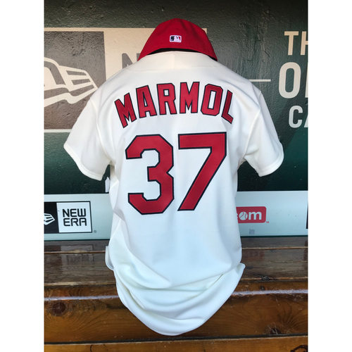Photo of Cardinals Authentics: Oliver Marmol Game Worn 1967 Jersey and Cap