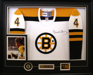 Bobby Orr - Signed  & Framed White Boston Bruins Jersey