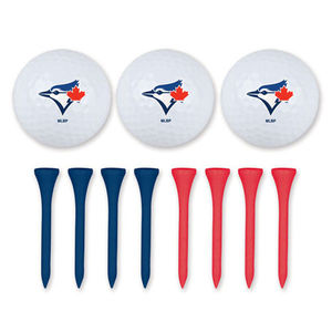 Toronto Blue Jays 3 Golf Ball Set With Golf Tee's by Wincraft
