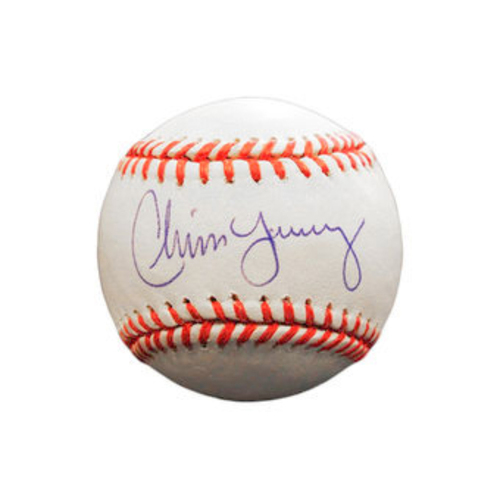 Photo of Chris Young Autographed Baseball