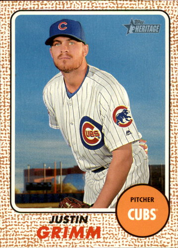 Photo of 2017 Topps Heritage #31 Justin Grimm Cubs post-season