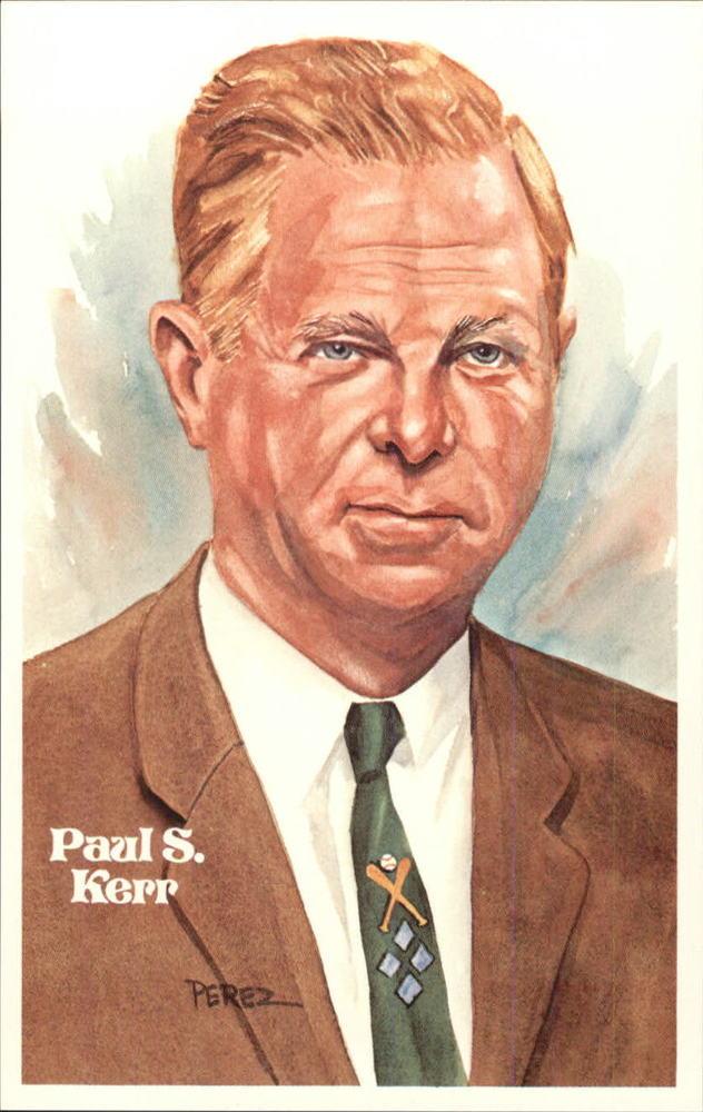 1980-02 Perez-Steele Hall of Fame Postcards #C Paul S. Kerr -- Set #08689