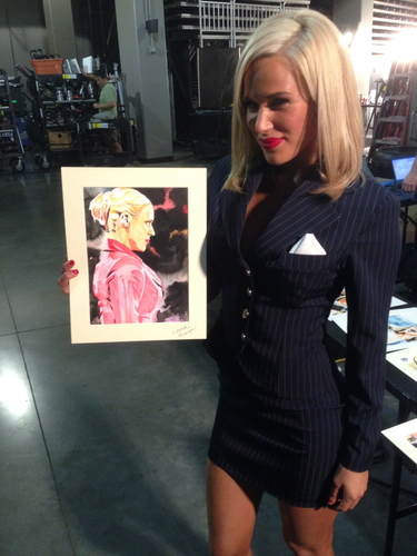 Lana Signed Painting by Rob Schamberger