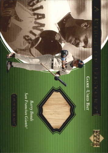 Photo of 2001 Upper Deck Ovation A Piece of History #BB Barry Bonds