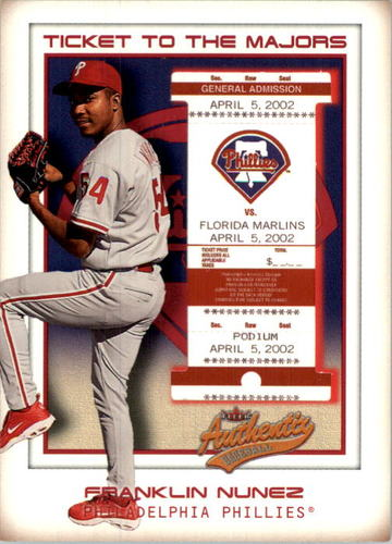 Photo of 2002 Fleer Authentix #164 Franklin Nunez TM RC