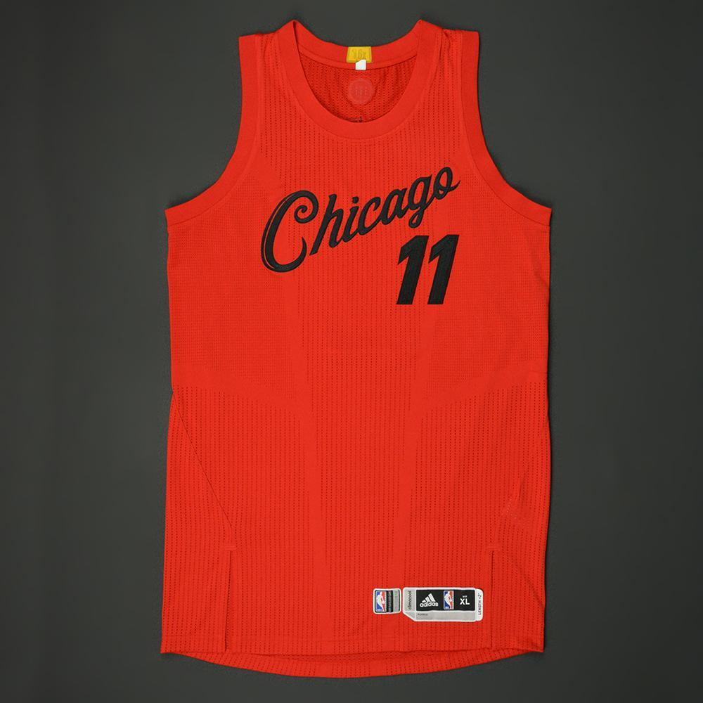 doug mcdermott chicago bulls nba christmas day 16 game worn jersey - Chicago Bulls Christmas Jersey