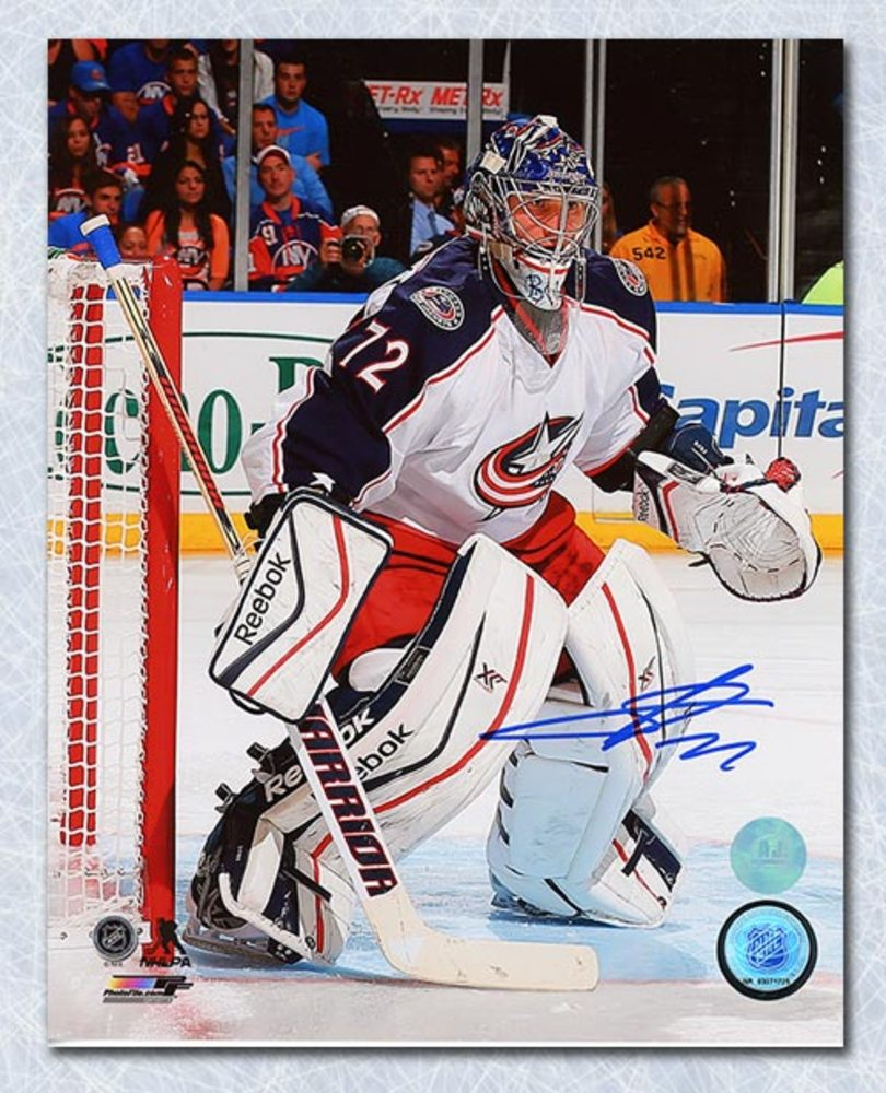 Sergei Bobrovsky Columbus Blue Jackets Autographed In Goal 8x10 Photo