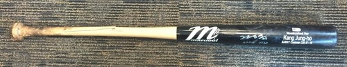 Photo of Jung Ho Kang Game-Used and Autographed Broken Bat