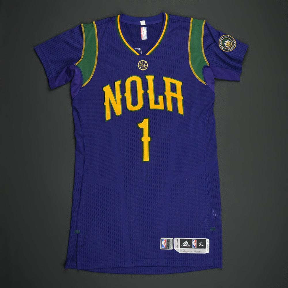 Jarrett Jack - New Orleans Pelicans - Purple 'Mardi Gras' Game-Worn Jersey - 2016-17 Season - Dressed, Did Not Play