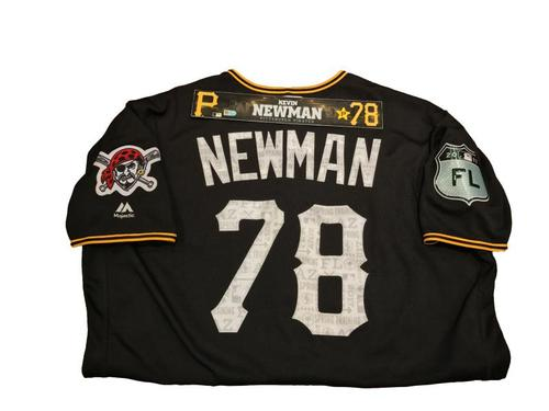 Photo of Kevin Newman Game-Used Spring Training Jersey and Locker Name Plate