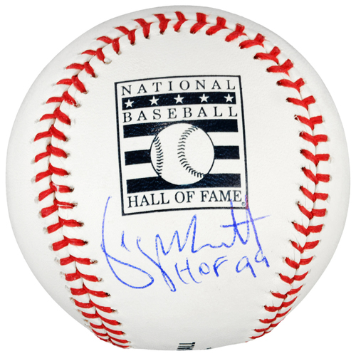 Photo of George Brett Kansas City Royals Autographed HOF Logo Baseball with HOF 99 Inscription