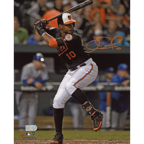 "Photo of Adam Jones Baltimore Orioles Autographed 8"" x 10"" Hitting Photograph"