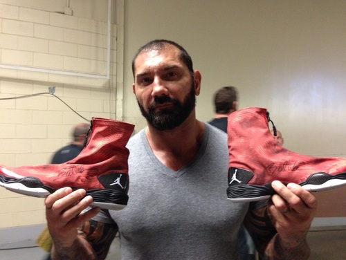 Batista WORN & SIGNED Sneakers (Extreme Rules 2014)