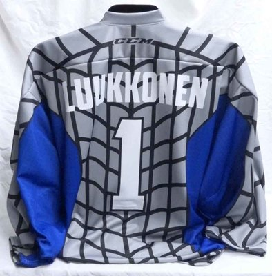 Ukko-Pekka Luukkonen Game Ready Spiderman Themed Jersey
