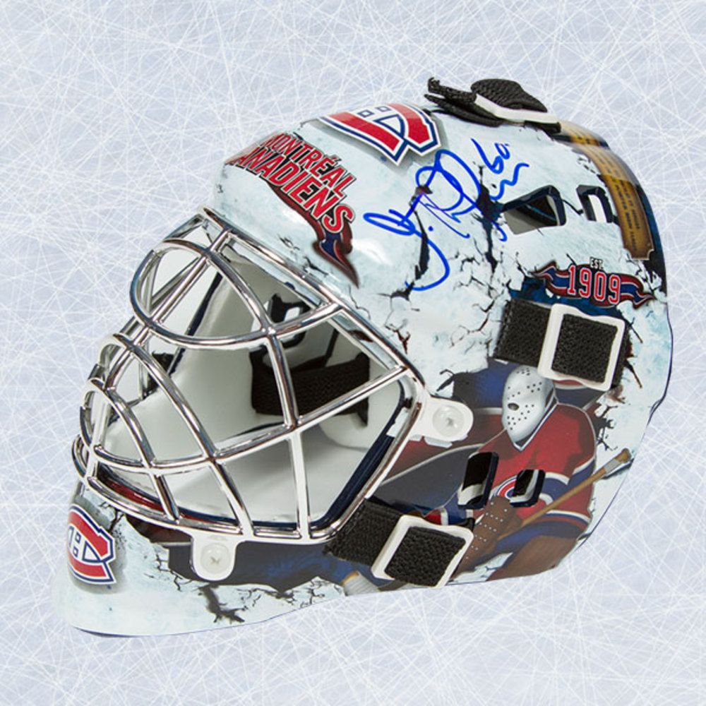 Jose Theodore Montreal Canadiens Autographed Franklin SX Comp Mini Mask