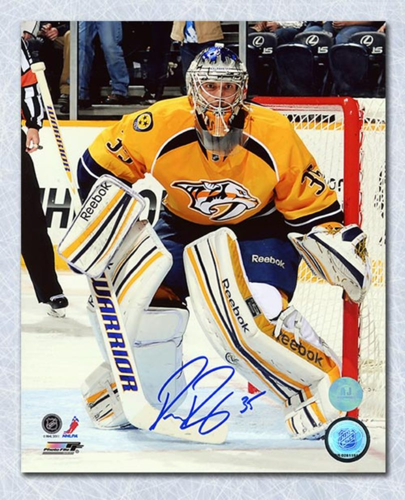 Pekka Rinne Nashville Predators Autographed Goalie Action 8x10 Photo