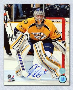 Pekka Rinne Nashville Predators Autographed Goalie Action 8x10 Photo