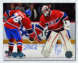 Carey Price & PK Subban Montreal Canadiens Signed Triple Low 5 8x10 Photo