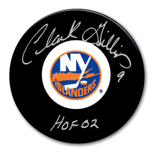Clark Gillies New York Islanders HOF Autographed Puck