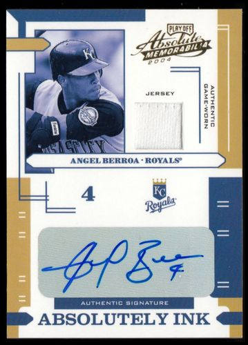 Photo of 2004 Absolute Memorabilia Absolutely Ink Material #9 Angel Berroa Jsy/100