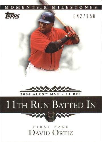 Photo of 2007 Topps Moments and Milestones #105-11 David Ortiz/RBI 11