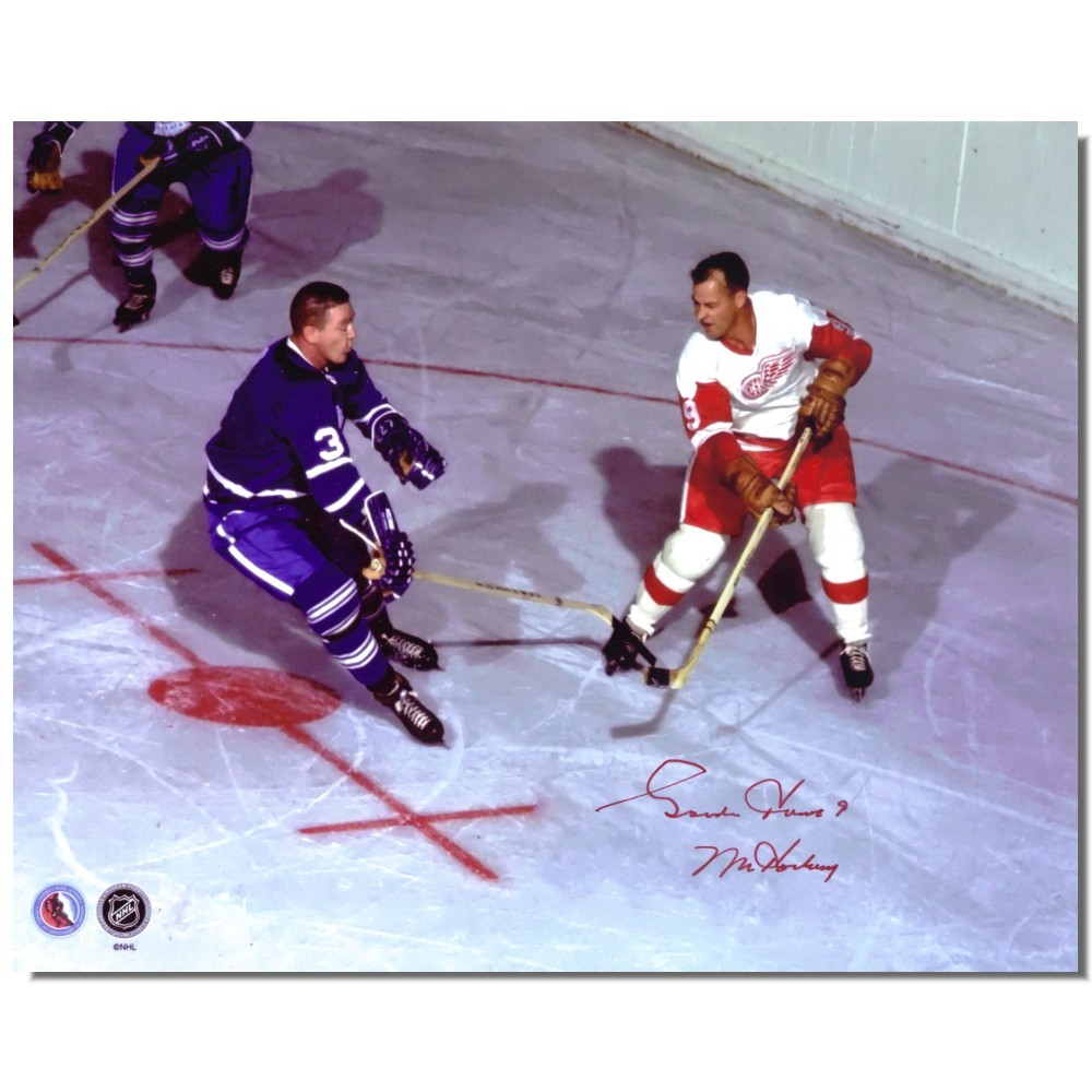 Gordie Howe Autographed Detroit Red Wings VS Toronto Maple Leafs 8x10 Photo