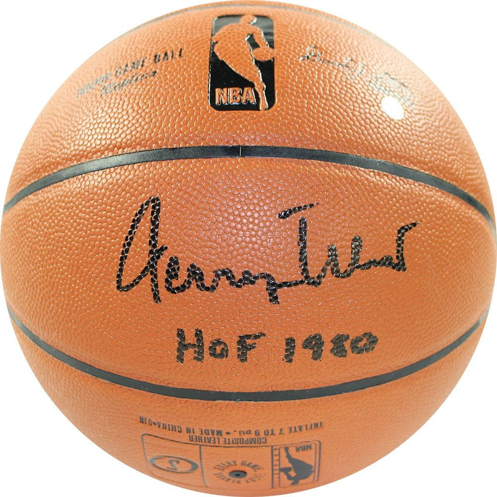 Jerry West Signed NBA I/O Basketball w/