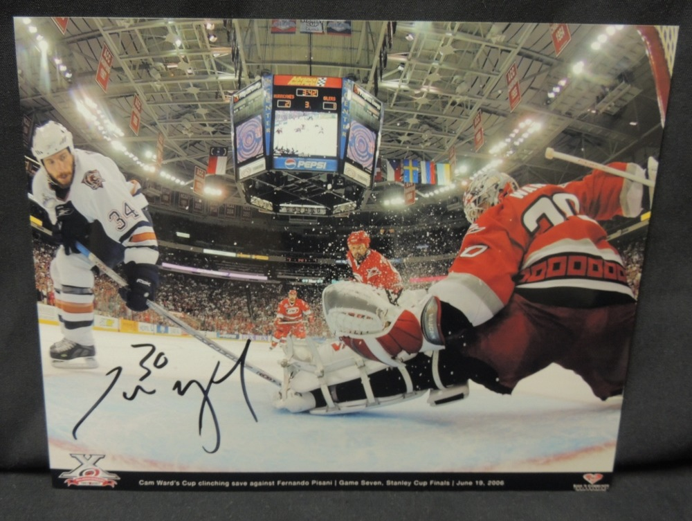 Cam Ward #30 Autographed 8x10 Photo (10th Annivesary Celebration Series)