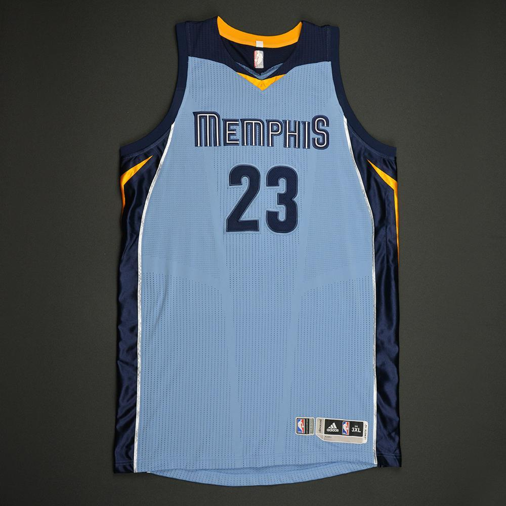 Deyonta Davis - Memphis Grizzlies - Game-Worn Rookie Season Jersey (Not Debut) - 2016-17 Season