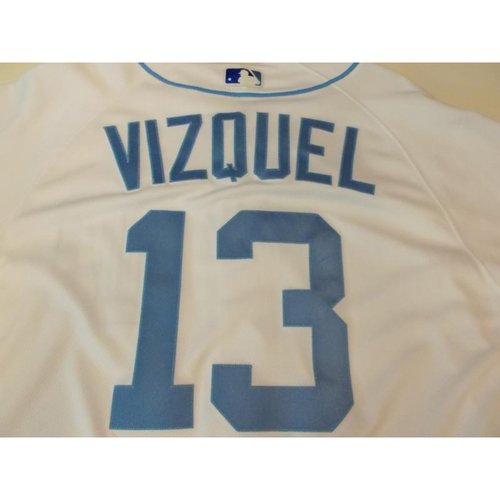 Photo of Game-Used Father's Day Jersey: Omar Vizquel