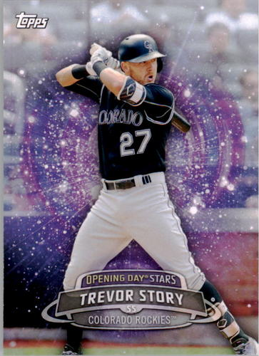 Photo of 2017 Topps Opening Day Opening Day Stars  Trevor Story -- Rockies post-season