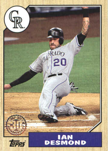 Photo of 2017 Topps Update '87 Topps #US8740 Ian Desmond