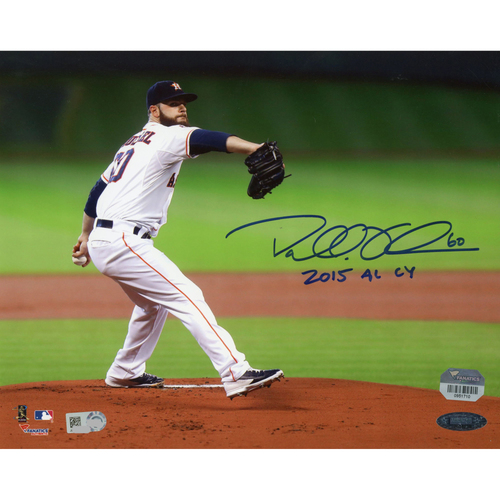 "Photo of Dallas Keuchel Houston Astros Autographed 8"" x 10"" Pitching Photograph with 2015 AL CY Inscription"