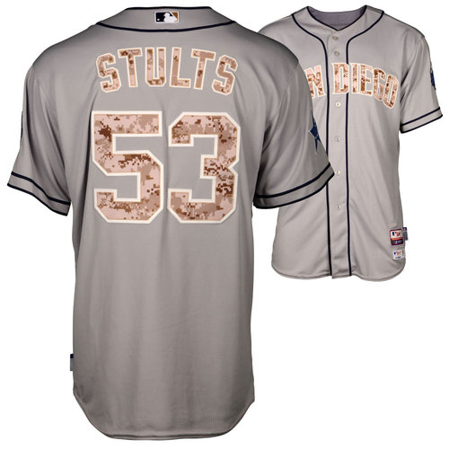 Photo of Eric Stults 2014 Game-Used Camo Padres Jersey