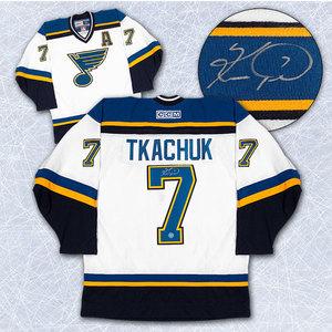 Keith Tkachuk St. Louis Blues Autographed Retro CCM Hockey Jersey