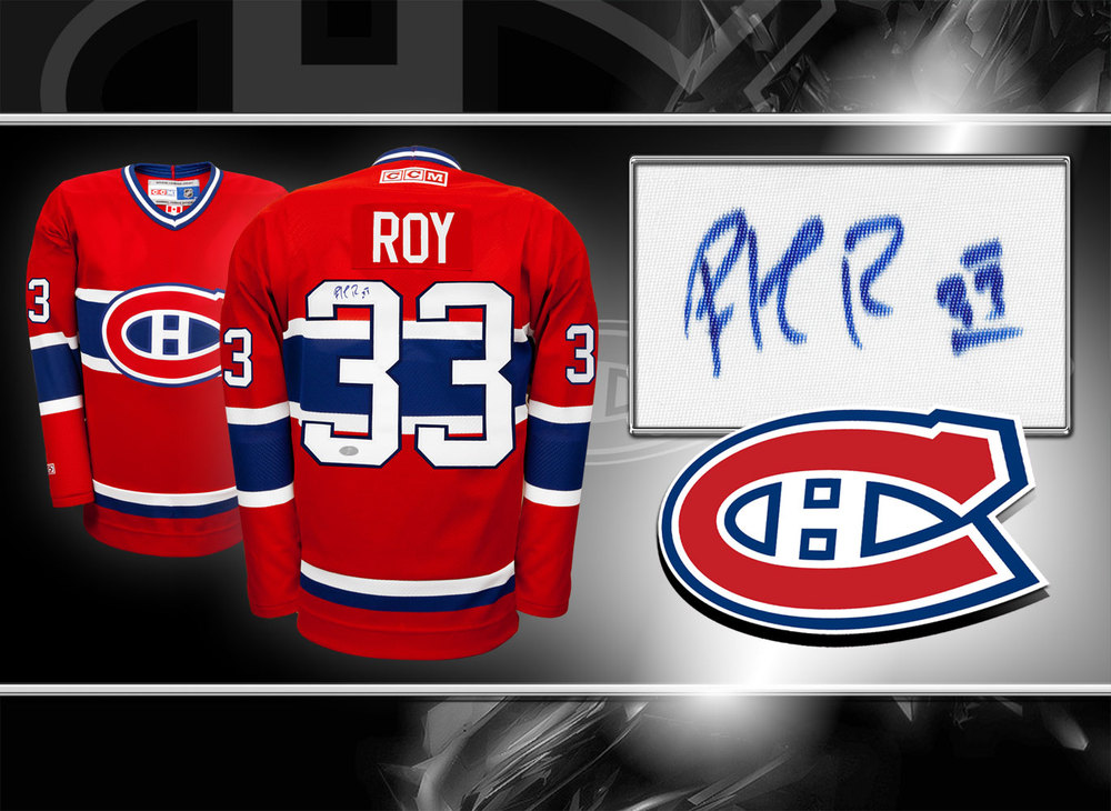 Patrick Roy Montreal Canadiens CCM Autographed Jersey