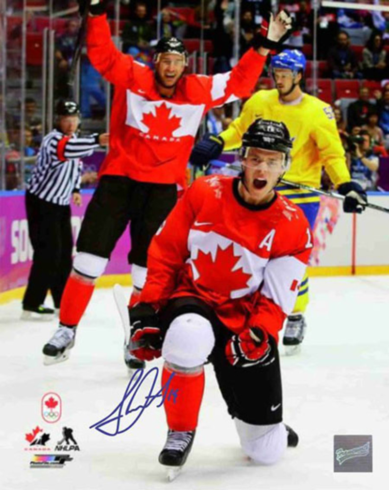 Jonathan Toews - Signed 8x10 Celebration Photo - 2014 Sochi Winter Games